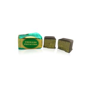 Smeraldo al Pistacchio ricoperto di cioccolato